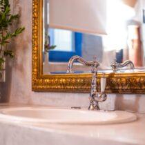Spülstein im Badezimmer, Einrichtungsdetail